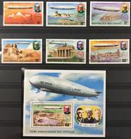 Madagascar 1976 (°) Malagasy Scott # 545-548+C158-160, Set Of 7 75th Anniversary Zeppelin – La2phil - Madagascar (1960-...)