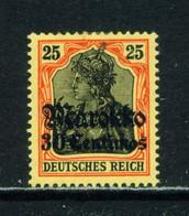 GERMAN POs IN MOROCCO  -  1911-18 Germania Deutches Reich Definitive 30c On 25pf Hinged Mint - Deutsche Post In Marokko