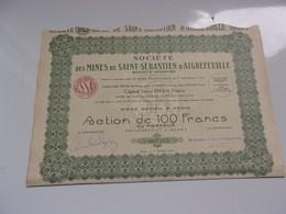 MINES DE SAINT SEBASTIEN D'AIGREFEUILLE (1926) - Unclassified