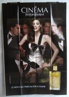Affiche Publicitaire Abribus - Parfum Pour Femme - Cinéma - Yves Saint Laurent - Jeune Fille Et Admirateurs. - Other