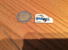 """Fève Plate """"CITROEN"""" (voiture, 2CV) Bleu Et Gris - Historia"""