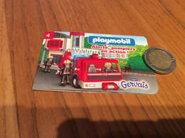 """Livret 12 Pages Playmobil/Gervais N°4 """"Alerte, Pompiers En Action"""" - Other"""
