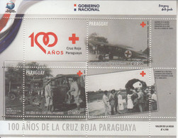 2019 Paraguay Red Cross Health Aviation Ambulance Souvenir Sheet MNH - Paraguay