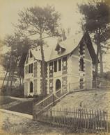 France Pontaillac Villa Clemence Architecte Robert Ancienne Photo Albert Levy 1890 - Ancianas (antes De 1900)