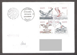 Birds Of The Baltic Estonia 1992 4 Stamps FDC  Mi 188-91 REGISTERED - Estonia
