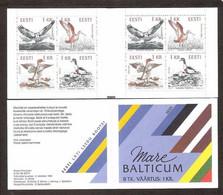 Birds Of The Baltic Estonia 1992 MNH 8 Stamps Booklet Mare Balticum Mi 188-91 - Estonia