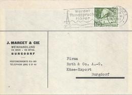 "Motiv Karte  ""Marcet, Weinhandlung, Burgdorf""          1951 - Covers & Documents"