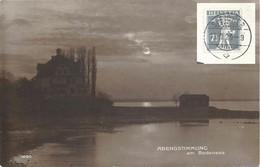 """AK  """"Abendstimmung Am Bodensee""""  (SPEICHER / Markenheftchen Frankatur)         1920 - Covers & Documents"""
