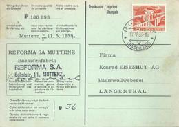 "Grossisten Karte  ""Reforma SA, Backofenfabrik, Muttenz""             1959 - Covers & Documents"