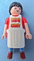 Playmobil Figur Geobra 1994  -  BBQ Chef 4649 -  Ohne Zubehör / Grill - Playmobil