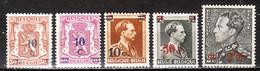 568/72**  Timbres De 1936-40 Surchargés - Série Complète - MNH** - COB 2 - Vendu à 12.50% Du COB!!!! - Unused Stamps