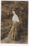 (RECTO / VERSO) JEUNE FEMME EN 1907 - BEAUX CACHETS - CARTE PHOTO CPA - 75 - Fotografie