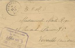 MAROC 1913 Enveloppe D'AZEMOUR  MAROC  Avec  Encadré,Troupes Débarquées Au Maroc / POSTE De SIDI- ALI - Militaire Stempels Vanaf 1900 (buiten De Oorlog)