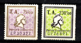 49697 - 2 Timbres Amendes - Fiscale Zegels
