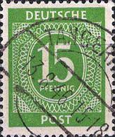 3068 Mi.Nr.922 Alliierte Besetzung Gemeinschaftsausgabe (1946) 1. Kontrollratsausgabe Gestempelt - Zona AAS
