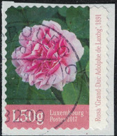 Luxembourg 2017 Used Rose Grande Duc Adolphe Sur Fragment SU - Usados