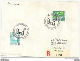 """90 - 85 - Enveloppe  Recommandée Avec Oblit Spéciale De Genève """"Ponts De Saint-Gervais 1995"""" - Postmark Collection"""