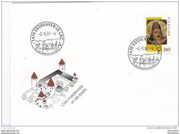 90 - 80 - Enveloppe Avec Oblitération Illustree D'Estavayer-le-lac - Cité Médiévale 1997 - Postmark Collection