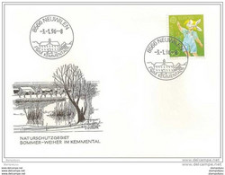 90 - 71 - Enveloppe Avec Cachet Illustré De Neuwilen   1996 - 1er Jour Du Cachet - Postmark Collection
