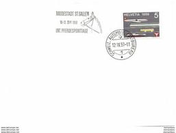 "63 - 90 - Enveloppe Avec Oblit Spéciale ""Modestadt St Gllen Int. Pferdesporttage 1959"" - Postmark Collection"