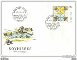 90 - 61- Enveloppe Avec Cachet Illustré De Soyhières 1994 - 1er Jour Du Cachet - Postmark Collection
