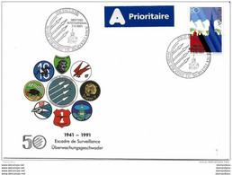 """90 - 53 - Enveloppe Suisse Avec Oblit Spéciale De Payerne """"50 Ans Escade De Surveillance"""" 1991 - Postmark Collection"""