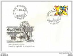 90 - 48 - Enveloppe Avec Cachet Illustré De  Hugelshofen 1996 - 1er Jour Du Cachet - Postmark Collection