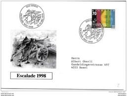 """90 - 57 - Enveloppe Avec Oblit Spéciale """"Escalade Genève 1998"""" - Postmark Collection"""