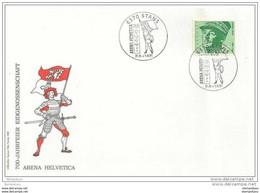 """90 - 32 - Enveloppe Avec Oblit Spéciale """"700e Anniv Confédération Stans 1991"""" - Postmark Collection"""