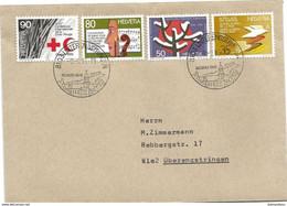 201 - 90 - Enveloppe Avec Série Propagande Et Cachets Illustrés Unterengstringen 1986 - Postmark Collection