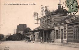 Conflans Ste Sainte-Honorine, La Gare - Edition L'Abeille - Carte N° 32 - Gares - Sans Trains