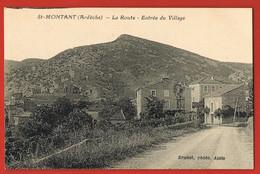 MONTANT-  Ardèche - La Route - Entrée Du Village  -Brunet Photo- Alais - Sonstige Gemeinden
