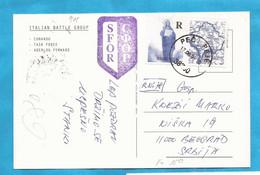STOP- THE BOMBS KOSOVO SERBIA NATO SFOR ITALIA BOSNIA AEREI  POSTAL CARD INTERESSANT - Kosovo