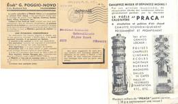 NORD VALENCIENNES P.P. (PORT PAYÉ) OMec FLIER 7 LIGNES ONDULÉES FORTEMENT Du 23. ? 1938 CP PUB. Ets G. POGGIO-NOVO - Mechanical Postmarks (Other)