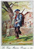 ► CPSM   Illustration Le Musicien Basque   Au 18 Siècle - Musica