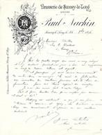 25 SANCEY-LE-LONG  Facture 1896 Brasserie Paul NACHIN - 1800 – 1899