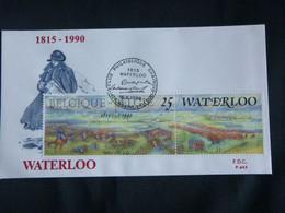 BELG.1990 2376  FDC ( Brain-Alleud ) :   Napoleon & Waterloo - 1981-90