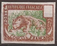 Congo Français Essai Format Plus Petit Couleur Non Adoptée TTB - Ongebruikt