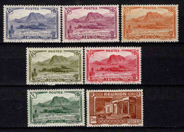 Martinique - 1933 - Paysages - N° 134/135/136A/137/139/140/141  - Neufs * - MLH - Ungebraucht