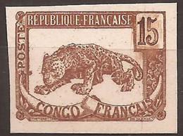 Congo Français Essai Format Définitif Couleur Non Adoptée Sans Le Fond TTB - Ongebruikt