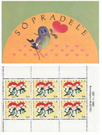 Estonia 1993 Valentine's Day Friendship Joint Issue With Finland Sheetlet Of 6 Stamps In Booklet - Unused Stamps