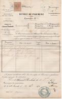 L'ALLEMAND ROMBACH - LE FRANC - ALSACE - CANTON DE SAINTE MARIE AUX MINES / 1870 FISCAL SUR DOCUMENT  (ref 5074c) - Fiscale Zegels