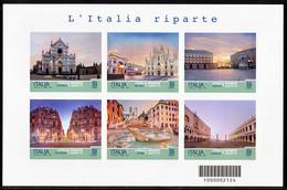 """ITALY 2021 Serie Turistica """"L'Italia Riparte""""- Foglietto A TIRATURA LIMITATA 45.000!!! - Hojas Bloque"""