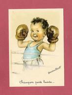 *  CPM..Germaine BOURET :  Champion Poids Lourds ... - Bouret, Germaine