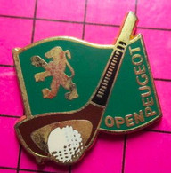 1417 Pin's Pins / Beau Et Rare / THEME : SPORTS / OPEN PEUGEOT GOLF Par HELIUM - Golf