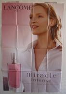 Affiche Publicitaire Abribus - Parfum - Lancôme - Miracle Intense - Uma Thurman - Other