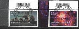 2018  Deutschland Germany Mi. 3425-6 FD-used Weiden  EOL Astrophysik - Used Stamps