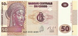 CONGO Democratic Republic - 50 Francs - 30.06.2013 - Pick: 97A - Unc. - Demokratische Republik Kongo & Zaire