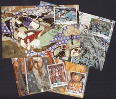 China 2008 / Qiuci Grotto Murals Buddha Rock Cave Painting / MC - Covers & Documents