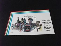 GEMELLAGGIO CHATEAU D'O FRANCIA CASTELLO PALLOTTA CALDAROLA ITALIA MARCHE MACERATA 1989 DISEGNO TULLI WLADIMIRO - Other